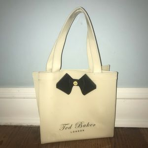 {Ted Baker} London small offwhite colored tote bag
